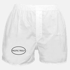 PACIFIC TROUT (oval) Boxer Shorts