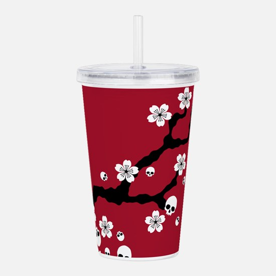Gothic Cherry Blossoms Acrylic Double-wall Tumbler
