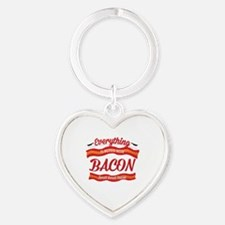 Everything is Better With Bacon Heart Keychain