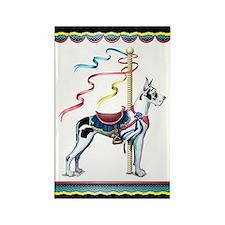 Great Dane Harle Carousel Rectangle Magnet