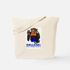 College Chimp Tote Bag