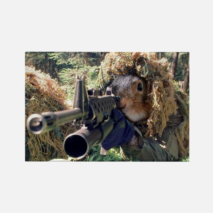 Squirrel Sniper Magnets