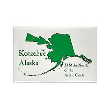 Kotzebue Map Rectangle Magnet (10 pack)