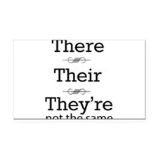 They are not the same Rectangle Car Magnet