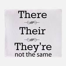 They are not the same Throw Blanket
