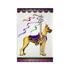 Great Dane Fawn Carousel Rectangle Magnet