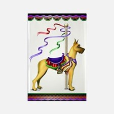 Great Dane Fawn Carousel Rectangle Magnet