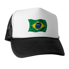 Wavy Brazil Flag Trucker Hat