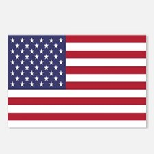United States Of America Flag Postcards (Package o