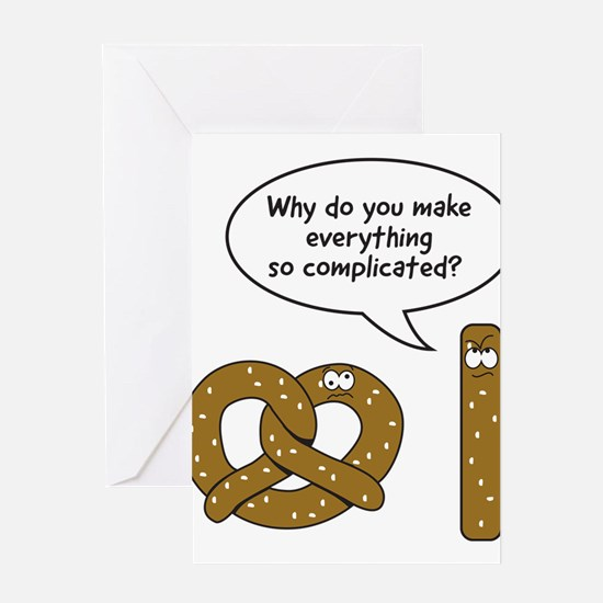 Pretzels complicated Greeting Cards