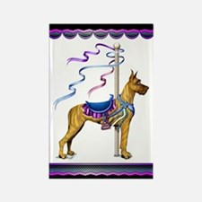 Great Dane Brindle Carousel Rectangle Magnet