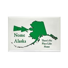 Nome Map Rectangle Magnet