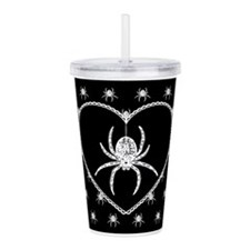 spider-heart_12x18.png Acrylic Double-wall Tumbler