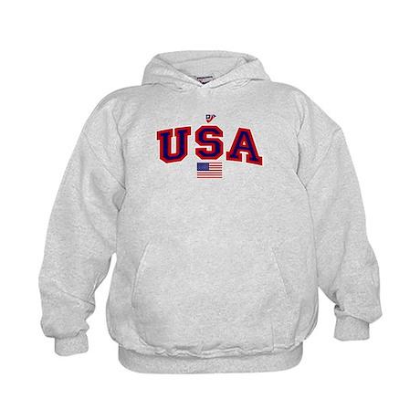 USA Flag Kids Hoodie