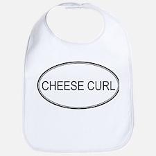 CHEESE CURL (oval) Bib