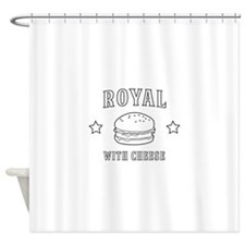 Royal with cheese Shower Curtain