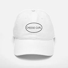 CHEESE CURL (oval) Baseball Baseball Cap