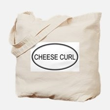 CHEESE CURL (oval) Tote Bag