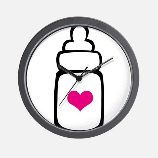 Cute Couples baby shower Wall Clock