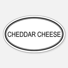 CHEDDAR CHEESE (oval) Oval Decal