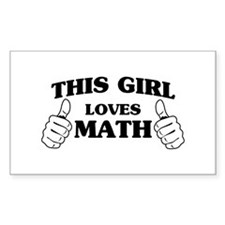 This girl loves math Decal