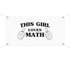This girl loves math Banner