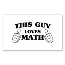 This guy loves math Decal