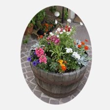 Courtyard Color Oval Ornament