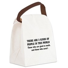 3 kinds of people Canvas Lunch Bag