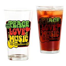 Unique Rasta colors Drinking Glass