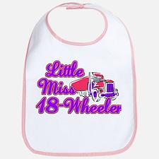 Little Miss 18-Wheeler Bib