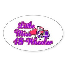 Little Miss 18-Wheeler Decal