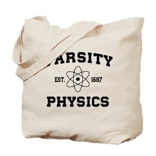 Varsity physics Tote Bag