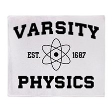 Varsity physics Throw Blanket