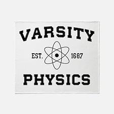 Varsity physics Throw Blanket