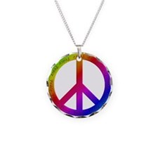 Colorful Peace Sign Necklace