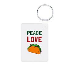 Peace Love Taco Keychains