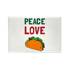 Peace Love Taco Magnets