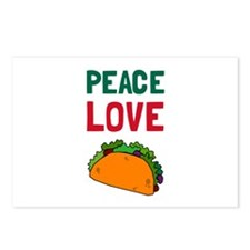 Peace Love Taco Postcards (Package of 8)