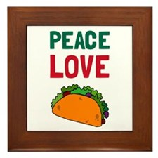Peace Love Taco Framed Tile