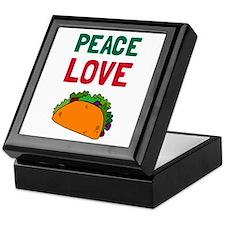Peace Love Taco Keepsake Box