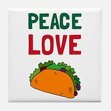 Peace Love Taco Tile Coaster