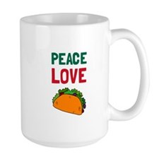 Peace Love Taco Mugs