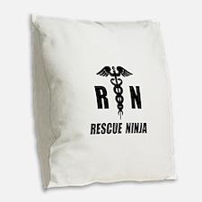 Rescue Ninja Burlap Throw Pillow