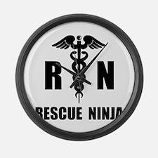 Rescue Ninja Large Wall Clock