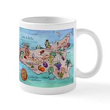 Map Of Sicily Mugs