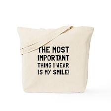 Wear Smile Tote Bag
