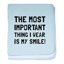 Wear Smile baby blanket