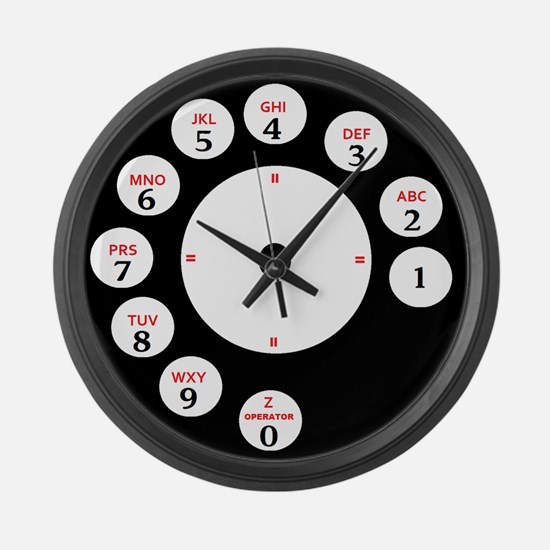 Dial Time Large Wall Clock