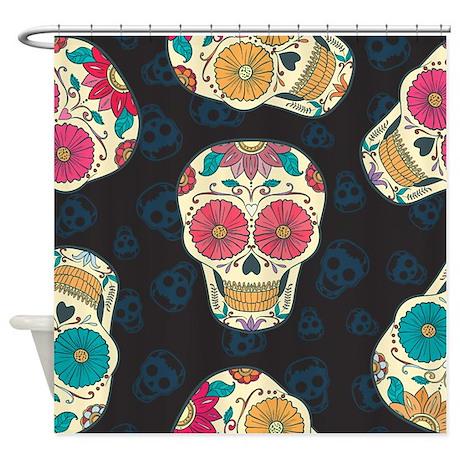 Dia De Los Muertos Shower Curtain By Fuzzychair